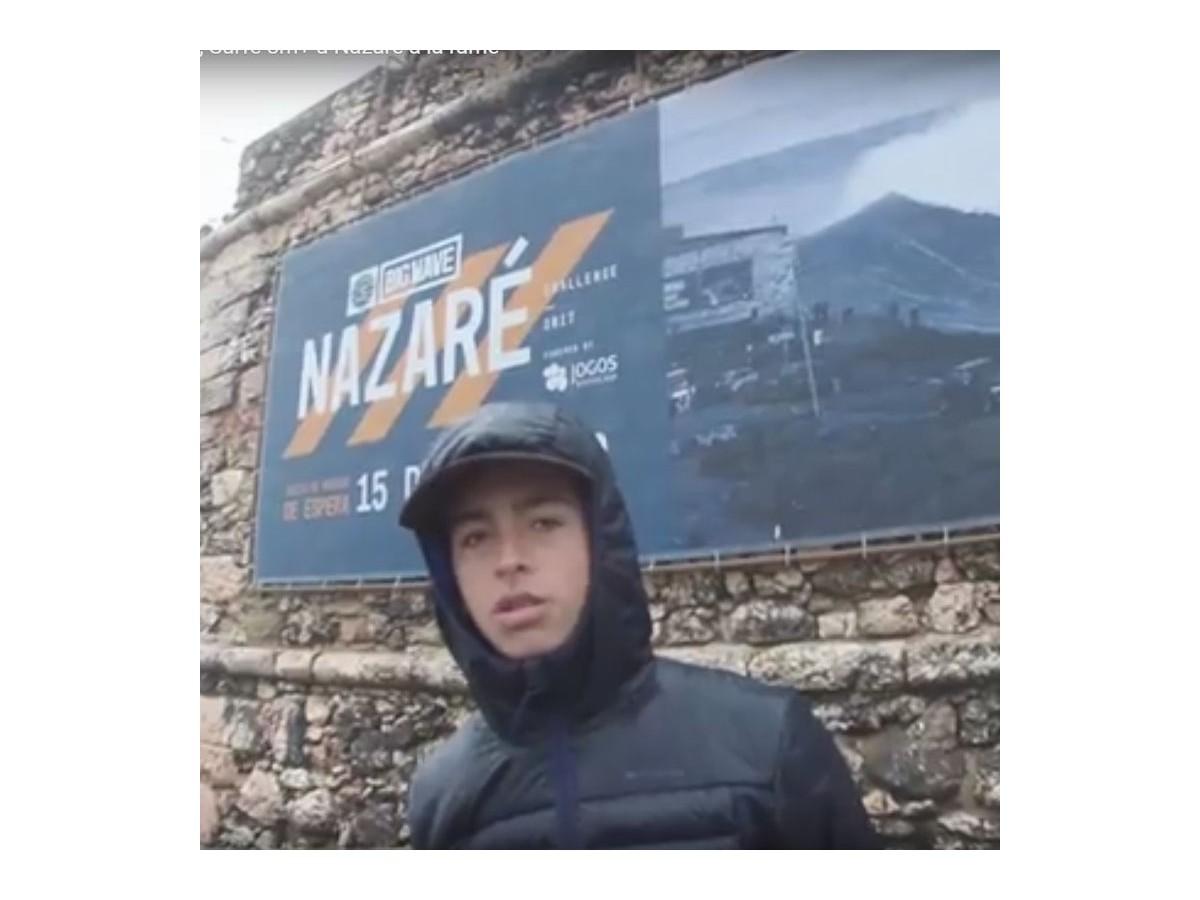 Matthieu Aguirre à Nazaré